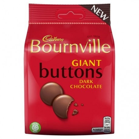Cadbury Bournville Giant Buttons Treat Pouch - 95g