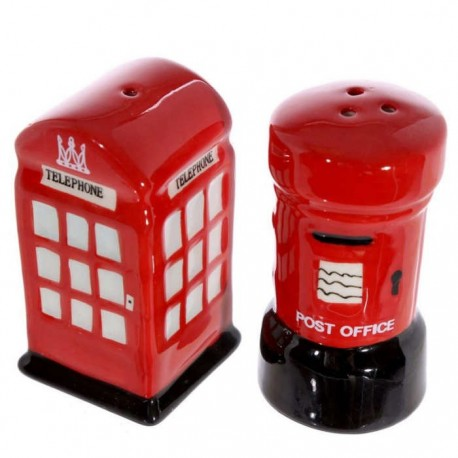 British Post & Telephone Box Salt & Pepper Shakers