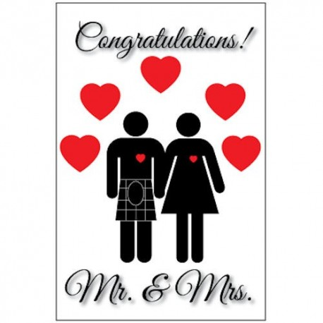 Scottish Mr & Mrs Wedding Card
