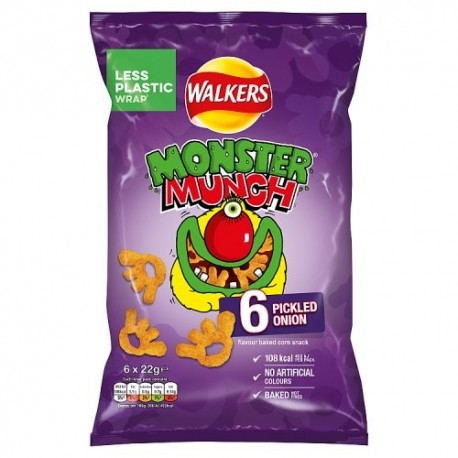 Walkers Pickled Onion Monster Munch - 6 Pack