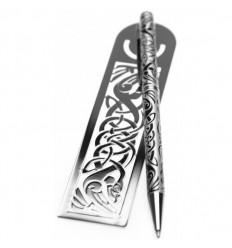 Sea Gems Celtic Bird Pen & Bookmark Gift Set
