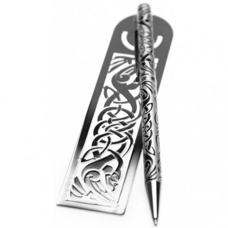 Sea Gems Celtic Bird Pen & Bookmark Gift Set