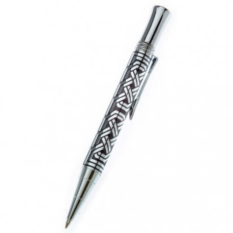 Sea Gems Square 8 Celtic Knot Ballpoint Pen