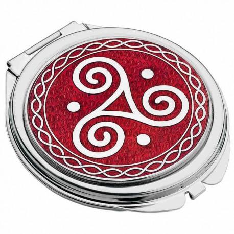 Sea Gems Celtic Triskele Compact Mirror