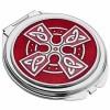 Sea Gems Celtic Cross Compact Mirror