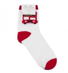 Big Red Bus Socks