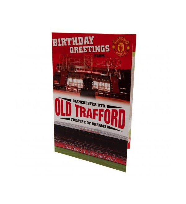 Prime Manchester United Fc Old Trafford Popup Birthday Card A Bit Of Funny Birthday Cards Online Fluifree Goldxyz