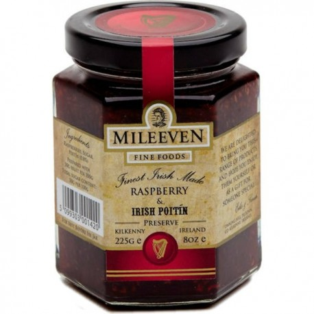 Mileeven Raspberry & Irish Poitin Preserve - 225g