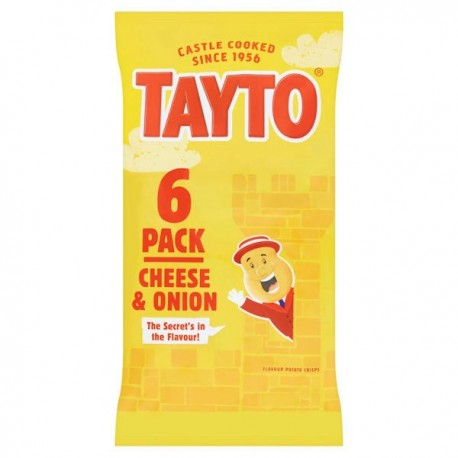 Tayto NI Cheese & Onion Crisps 6 Pack