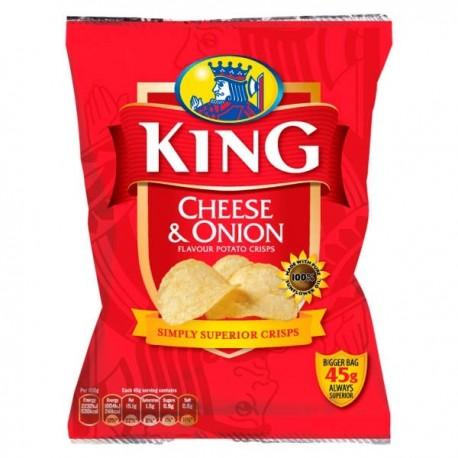 King Cheese & Onion Crisps - 45g