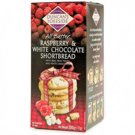 Duncans of Deeside Raspberry Chocolate Shortbread - 200g