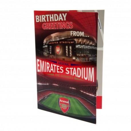 Arsenal FC Emirates Stadium Popup Birthday Card