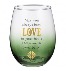 Celtic LoveToast Wine Glass