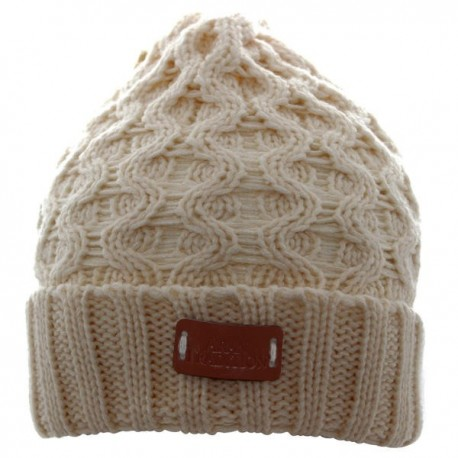 Aran Traditions Cable Knit Beanie - Oatmeal