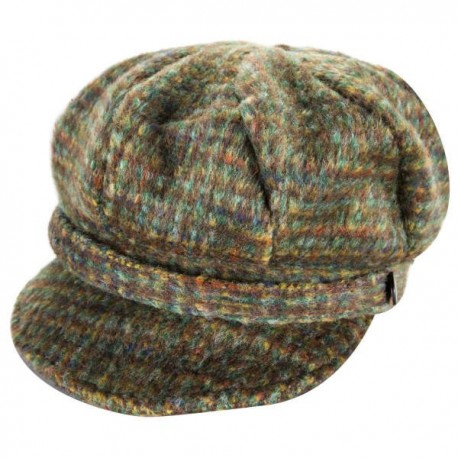 Heritage Traditions Ladies Newsboy Cap - Green Tweed