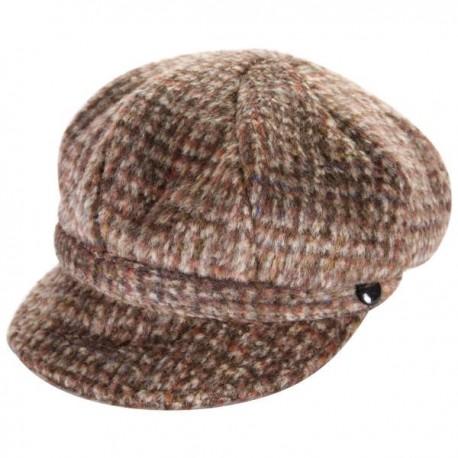 Heritage Traditions Ladies Newsboy Cap - Brown Tweed