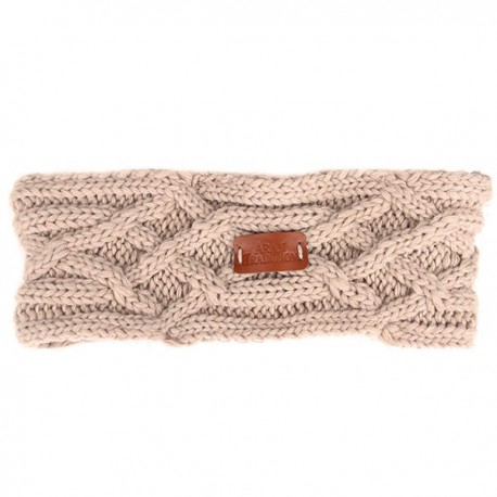 Aran Traditions Junior Cable Knit Headband - Oatmeal