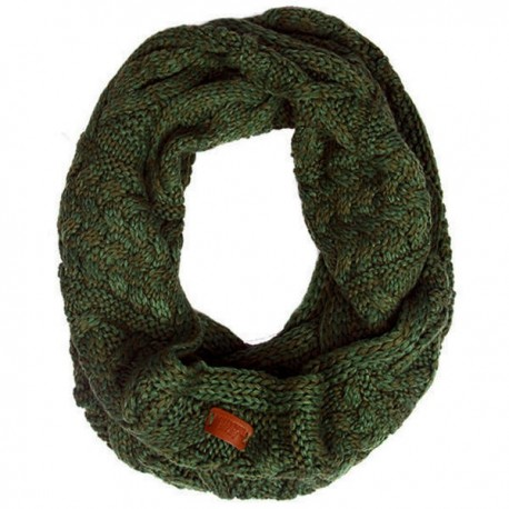 Aran Traditions Cable Knit Snood - Dark Green