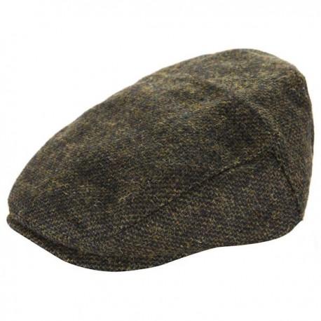 Heritage Traditions Mens Flat Cap - Green Twill