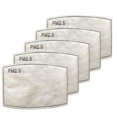PM2.5 Charcoal Filters - 5 Pack