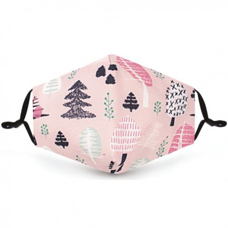 Pink Christmas Trees Filter Face Mask