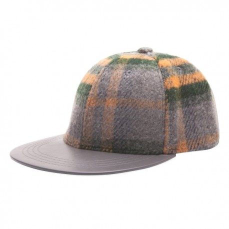 Heritage Traditions Check Baseball Cap - Grey/Orange