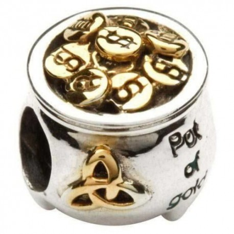 Shanore Pot of Gold Silver Charm