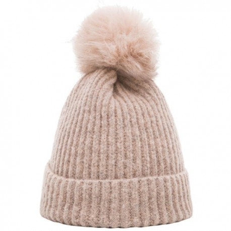 Heritage Traditions Pom Rib Knit Hat - Dusty Pink