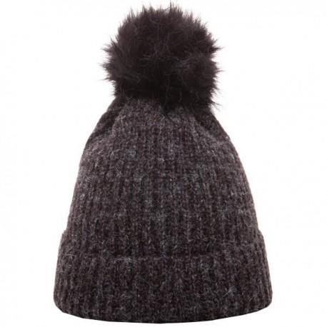 Heritage Traditions Pom Rib Knit Hat - Black
