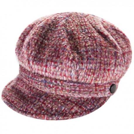 Heritage Traditions Ladies Newsboy Cap - Pink Tweed
