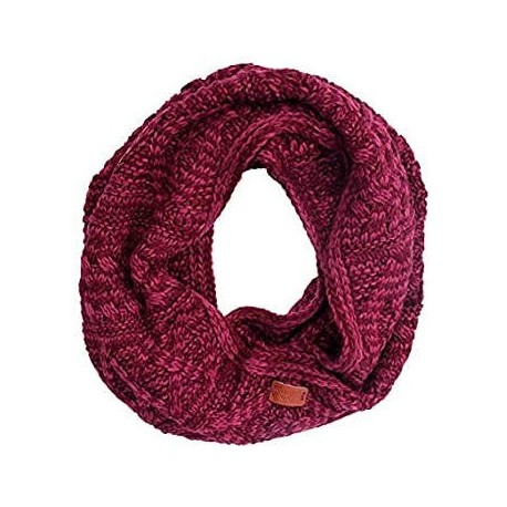 Aran Traditions Cable Knit Snood - Raspberry