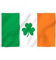 Ireland Shamrock Tricolour Flag: 36x60