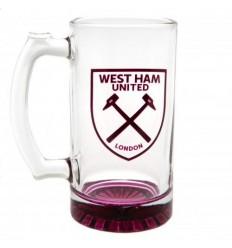 West Ham United FC Glass Tankard