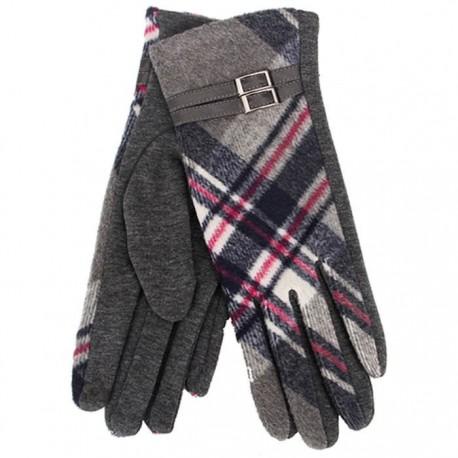 Tartan Traditions Ladies Fleece Gloves - Grey Tartan