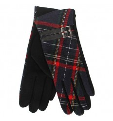 Tartan Traditions Ladies Fleece Gloves - Black Tartan
