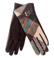 Tartan Traditions Ladies Fleece Gloves - Green Tartan