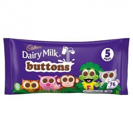 Cadbury Dairy Milk Buttons 5 Pack - 70g