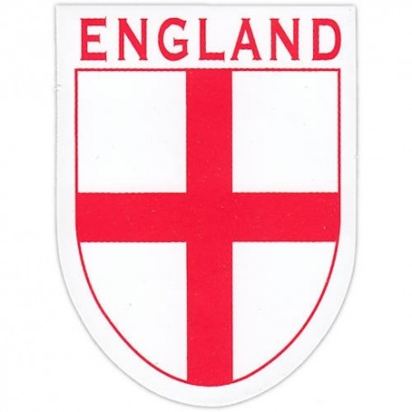 England St George Cross Shield Window Cling