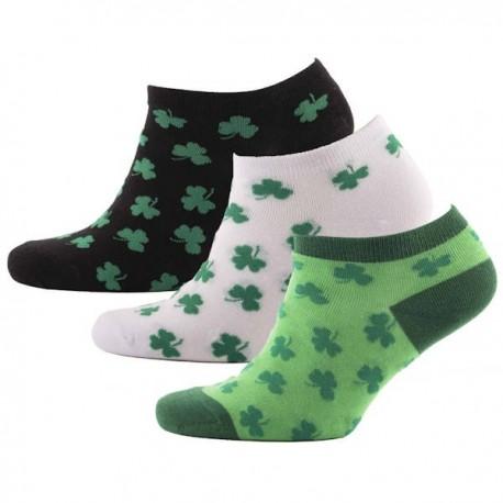 Multi Shamrock Trainer Socks 3 Pack