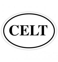 CELT Oval Sticker