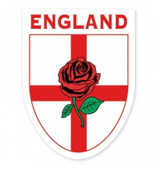 England Rose Shield Sticker