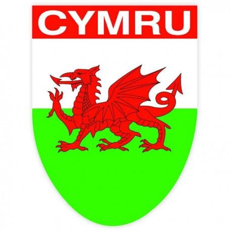 Wales CYMRU Flag Shield Sticker