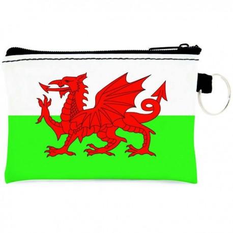 Wales Flag Zip Coin Purse