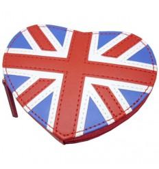Union Jack Heart Zip Coin Purse