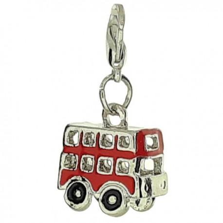 British Double Decker Bus Clip Charm