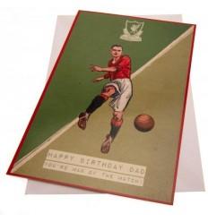 Liverpool FC Retro Dad Birthday Card