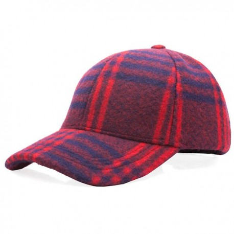 Heritage Traditions Check Curved Cap - Red/Blue