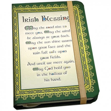 Celtic Notes Irish Blessing Foil Notebook