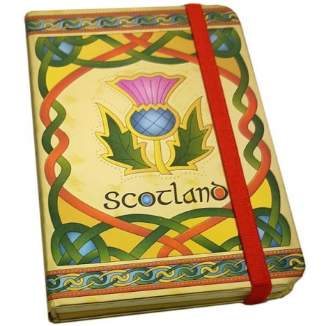 Celtic Notes Scottish Thistle Foil Notebook
