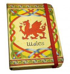 Celtic Notes Wales Dragon Foil Notebook